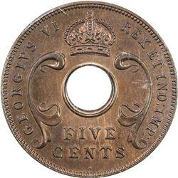EAST AFRICA & UGANDA: George VI, 1937-1952, AE 5 cents, 1937-H. PCGS SP