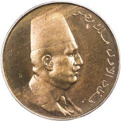 EGYPT: Fuad I, as King, 1922-1936, AE 1/2 millieme, AH1342/1924-H. PCGS SP
