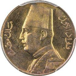 EGYPT: Fuad I, as King, 1922-1936, AE 1/2 millieme, 1932-H/AH1351. PCGS SP64