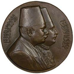 EGYPT: Farouk, 1936-1952, AE medal (108.4g), 1948. AU