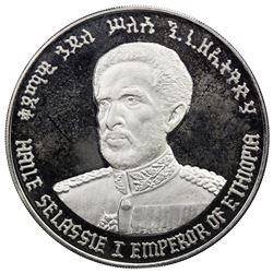 ETHIOPIA: Haile Selassie, Emperor, 1930-1974, AR 10 birr (39.84g), EE1972 (1964). PF