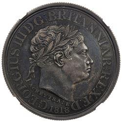 GOLD COAST: George III, 1760-1820, AR ackey, 1818. NGC PF61