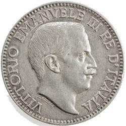 ITALIAN SOMALILAND: Vittorio Emanuele, 1900-1946, AR rupia, 1912-R. EF