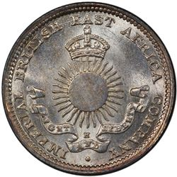 MOMBASA: Victoria, 1887-1895, AR 2 annas, 1890-H. PCGS MS65
