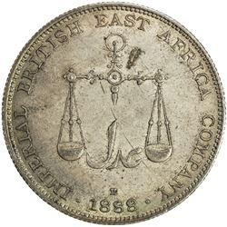 MOMBASA: Victoria, 1887-1895, AR rupee, 1888-H. AU