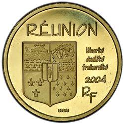 REUNION: AV 20 euro, 2004. PCGS SP67