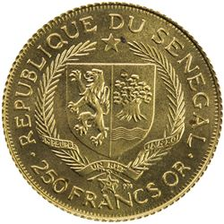 SENEGAL: Republic, AV 250 francs, 1975. BU