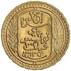 TUNISIA: Ahmad Pasha Bey, 1929-1942, AV 100 francs, 1932/AH1351. UNC