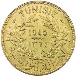 TUNISIA: Muhammad VIII, 1943-1956, franc, 1945/AH1364. NGC MS65