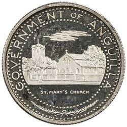 ANGUILLA: British Territory, AR 1/2 dollar, 1970. PF