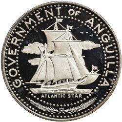ANGUILLA: British Territory, AR 4 dollars, 1970. PF