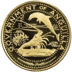 ANGUILLA: British Territory, AV 10 dollars, 1970. PF
