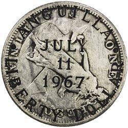 ANGUILLA: British Territory, AR liberty dollar, 1967. VF