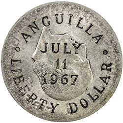 ANGUILLA: British Territory, AR liberty dollar, 1967. EF