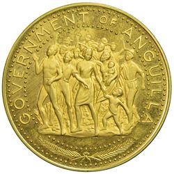 ANGUILLA: British Territory, goldine 100 dollars, ND [1970]. PF