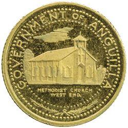 ANGUILLA: British Territory, goldine 5 dollars, ND [1970]. PF