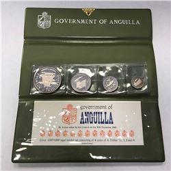 ANGUILLA: British Territory, 4-coin proof set, 1969. PF