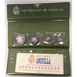 ANGUILLA: British Territory, 4-coin proof set, 1970. PF