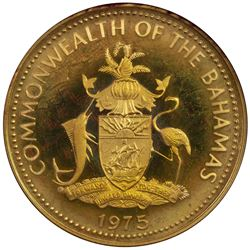BAHAMAS: Commonwealth, AV 100 dollars, 1975. PF