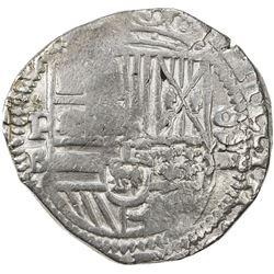 BOLIVIA: Felipe III, 1598-1621, AR 8 reales cob (27.32g), ND [1601-5]-P. VF