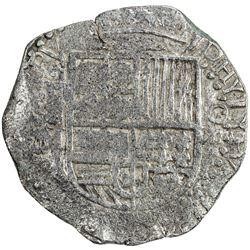 BOLIVIA: Felipe III, 1598-1621, AR 8 reales cob (25.71g), ND [1605-21]-P. VF
