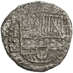 BOLIVIA: Felipe III, 1598-1621, AR 4 reales cob (9.82g), ND [1616-7]-P. F-VF