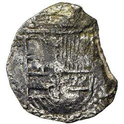 BOLIVIA: Felipe III, 1598-1621, AR 4 reales cob (11.49g), ND [1605-21]-P. F