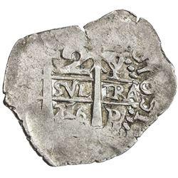BOLIVIA: Felipe V, 1700-1746, AR 2 reales cob (4.94g), [1]716-P. VF