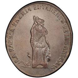 BOLIVIA: AR medal, ND. PCGS MS64