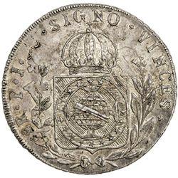 BRAZIL: Pedro I, 1822-1831, AR 960 reis, 1824-B. EF