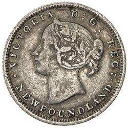 NEWFOUNDLAND: Victoria, 1837-1901, AR 5 cents, 1873. F