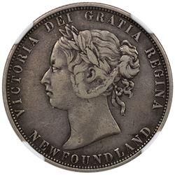 NEWFOUNDLAND: Victoria, 1837-1901, AR 50 cents, 1873. NGC VF25