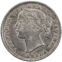 CANADA: Victoria, 1837-1901, AR 20 cents, 1858. EF
