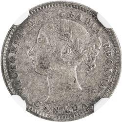 CANADA: Victoria, 1837-1901, AR 10 cents, 1889. NGC VF30