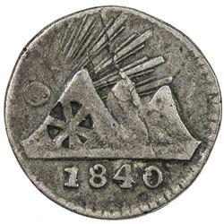 CENTRAL AMERICAN REPUBLIC: AR 1/4 real (quartilla), 1840/30-G. F