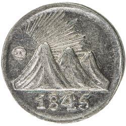 CENTRAL AMERICAN REPUBLIC: AR 1/4 real, 1845-CR. AU