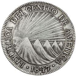 CENTRAL AMERICAN REPUBLIC: AR 8 reales, 1847/6-NG. VF
