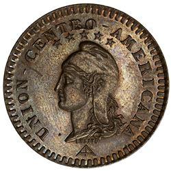 CENTRAL AMERICAN UNION: AE 2 centavos, 1889. AU