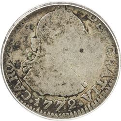 COLOMBIA: Carlos III, 1759-1788, AR real, 1772-NR. ANACS AG3