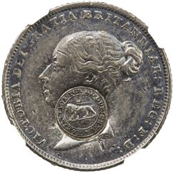 COSTA RICA: AR 2 reales, ND (1849-57)