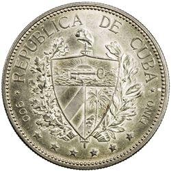 CUBA: AR souvenir peso, 1897. EF