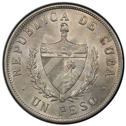 CUBA: AR peso, 1932. PCGS MS63