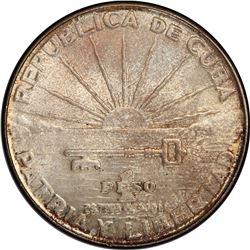 CUBA: AR peso, 1953. PCGS MS64
