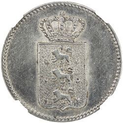 DANISH WEST INDIES: Christian VIII, 1839-1848, AR 20 skilling, 1845. NGC UNC