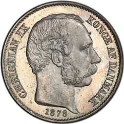 DANISH WEST INDIES: Christian IX, 1863-1906, AR 20 cents, 1878