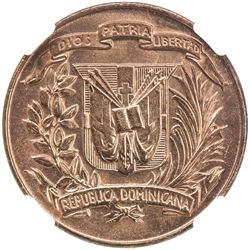 DOMINICAN REPUBLIC: AE centavo, 1942. NGC MS65
