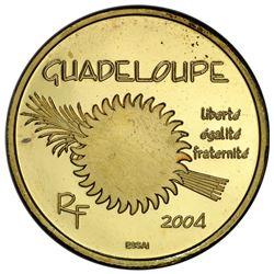 GUADELOUPE: AV 20 euro, 2004. PCGS SP67