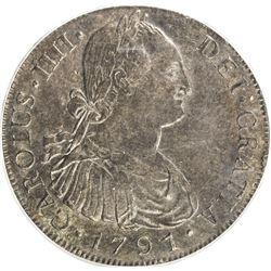 GUATEMALA: Carlos IV, 1788-1808, AR 8 reales, 1791-NG. ICG MS62