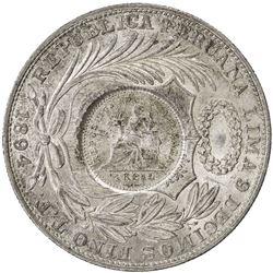 GUATEMALA: AR peso, 1894. UNC