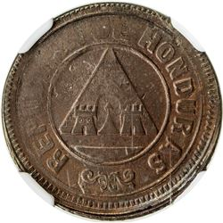 HONDURAS: Republic, AE centavo, 1896. NGC MS63
